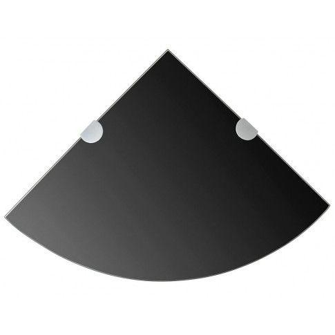 Zdjęcie produktu Czarna szklana półka narożna - Gaja 2X.