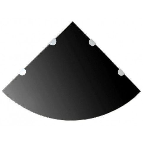 Zdjęcie produktu Czarna półka z hartowanego szkła - Gaja 4X.
