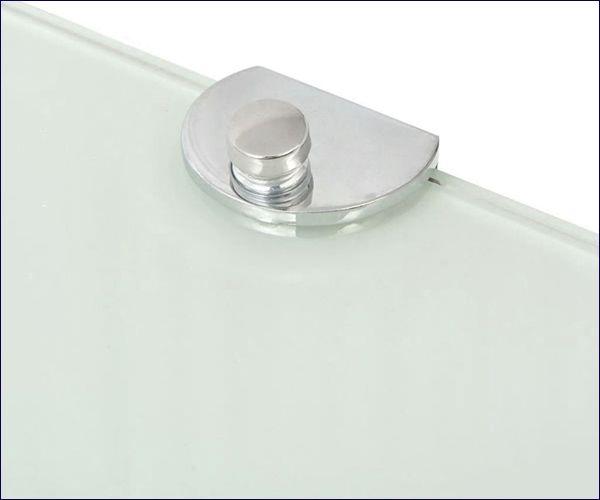 Biała szklana półka ścienna Gaja 2X