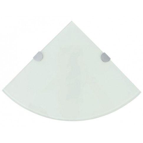 Zdjęcie produktu Półka narożna z białego szkła - Gaja 2X.