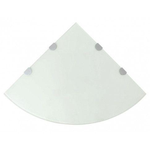 Zdjęcie produktu Biała półka z hartowanego szkła - Gaja 4X.