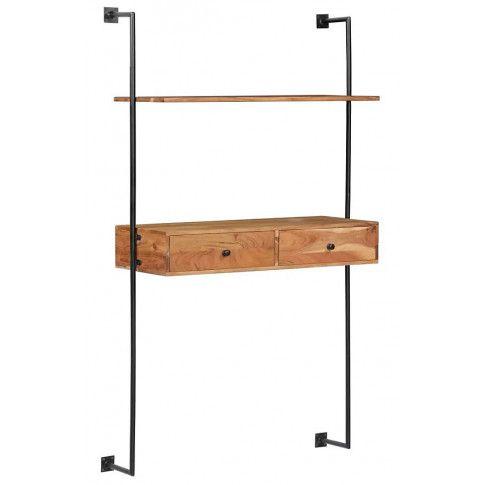Zdjęcie produktu Drewniane biurko ścienne Tant - brązowe.