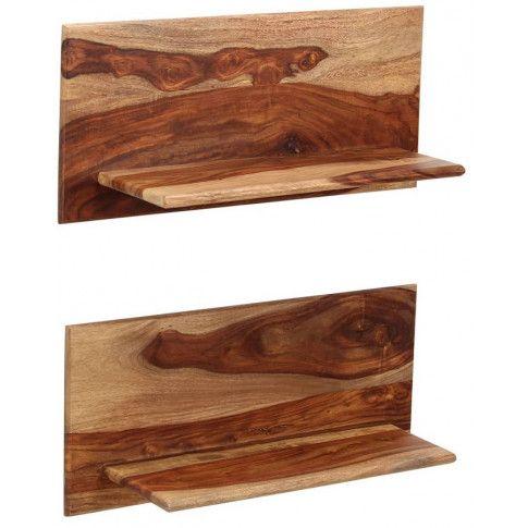 Zdjęcie produktu Zestaw drewnianych półek ściennych Connor 2X - brązowy.