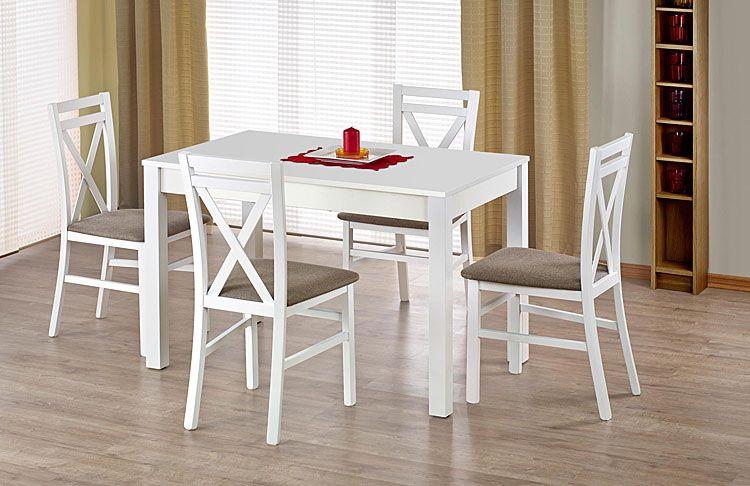 Rozkładany biały stół Aster