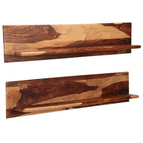 Zdjęcie produktu Zestaw drewnianych półek ściennych Connor 3X - brązowy.