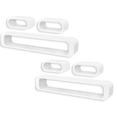Zestaw białych półek ściennych Mins 3X