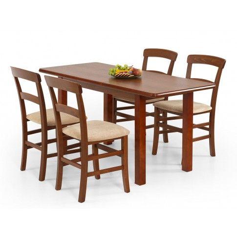 Zdjęcie produktu Rozkładany stół Dinos 120-158 cm - czereśnia.