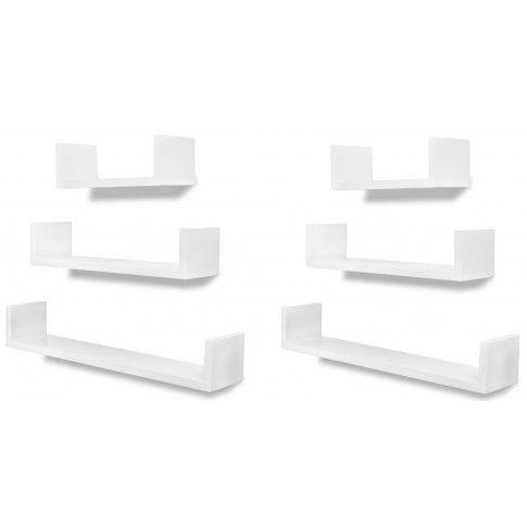 Zdjęcie produktu Zestaw funkcjonalnych półek ściennych Baffic - biały.