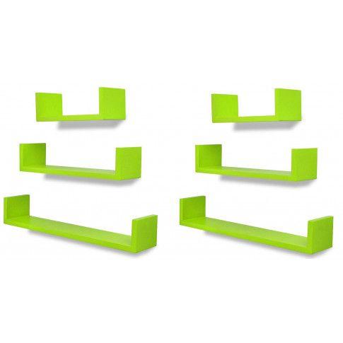 Zdjęcie produktu Zestaw funkcjonalnych półek ściennych Baffic 4X - zielony.