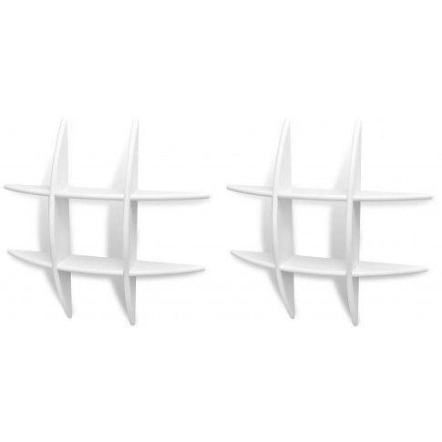 Zdjęcie produktu Zestaw praktycznych półek ściennych Sort 2X - biały.