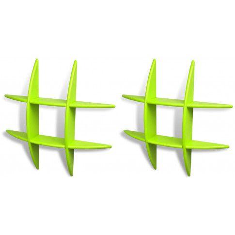 Zdjęcie produktu Zestaw praktycznych półek ściennych Sort 2X - zielony.