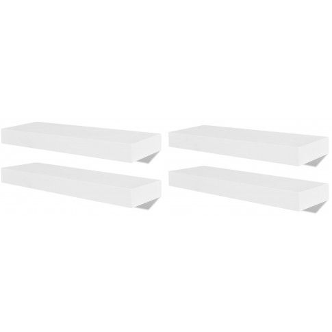 Zdjęcie produktu Zestaw nowoczesnych półek ściennych Nera - biały.