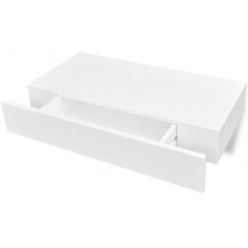 Zdjęcie produktu Zestaw półek ściennych z szufladami Pilon - biały.