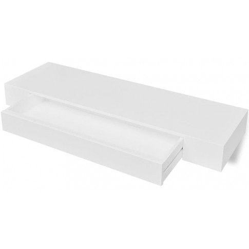 Zdjęcie produktu Zestaw półek ściennych z szufladami Pilon 2X - biały.