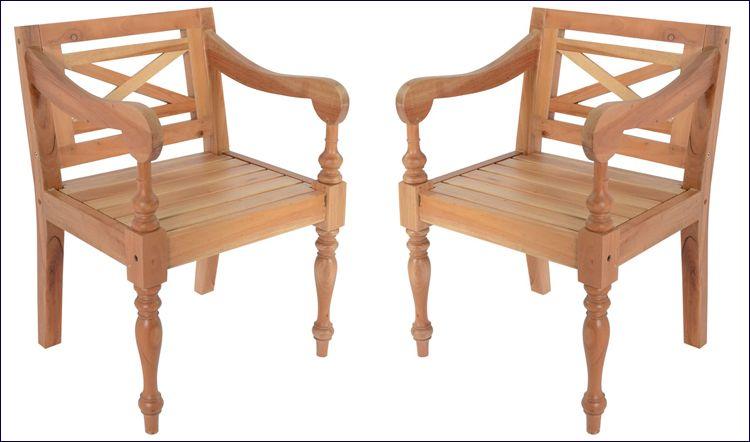 Tarasowe krzesła z drewna mahoniowego Amarillo