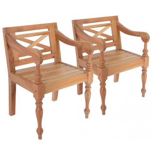 Zdjęcie produktu Mahoniowe fotele na taras Amarillo 2 szt - jasnobrązowe.