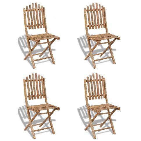 Zdjęcie produktu Składane krzesła bambusowe Javal - 4 szt..