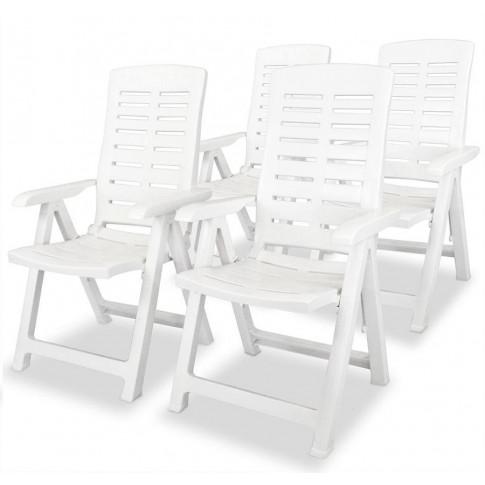 zestaw białych krzeseł ogrodowych Elexio 3Q