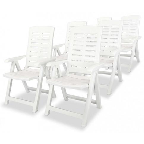 Zestaw białych krzeseł ogrodowych Elexio 4Q