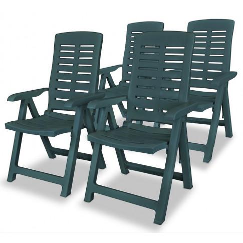 Zestaw zielonych krzeseł ogrodowych Elexio 3Q