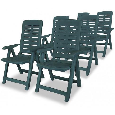 Zestaw zielonych krzeseł ogrodowych Elexio 4Q