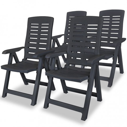 Zestaw szarych krzeseł ogrodowych Elexio 3Q