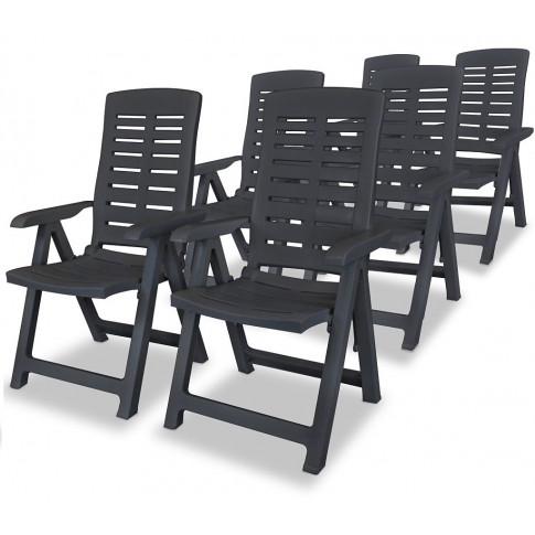 Zestaw szarych krzeseł ogrodowych Elexio 4Q