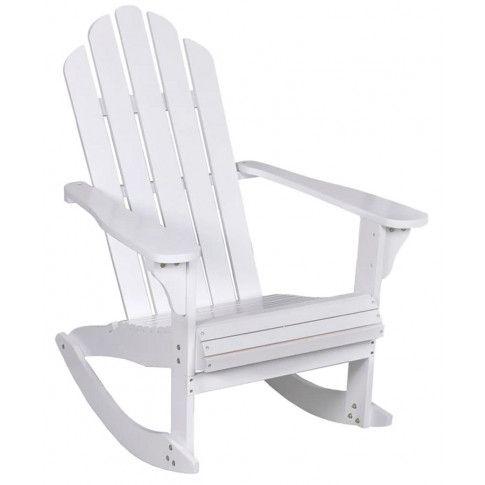 białe bujane krzesło ogrodowe daron