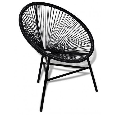 Zdjęcie produktu Krzesło ogrodowe Corrigan - czarne.