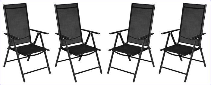 Komplet ogrodowych składanych krzeseł tekstylnych Safari