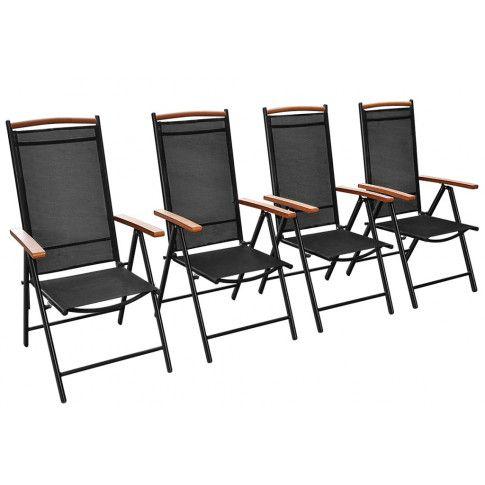 Zdjęcie produktu Komplet ogrodowych krzeseł składanych Amareto 4 szt..