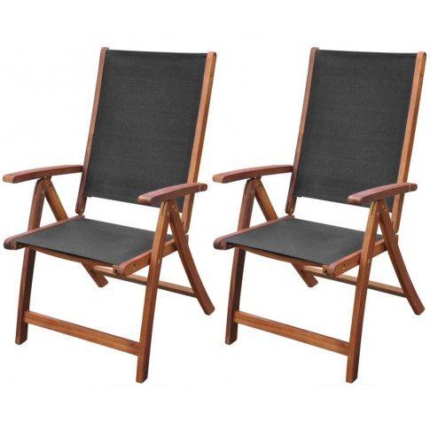 Zdjęcie produktu Zestaw drewnianych krzeseł ogrodowych - Taloma.