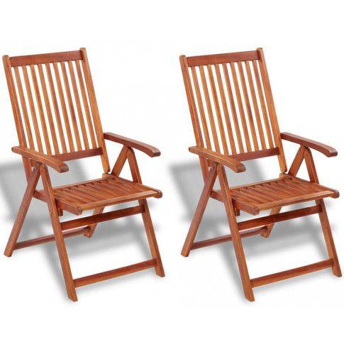 Zdjęcie produktu Drewniane krzesła ogrodowe Pasadena 2 szt.