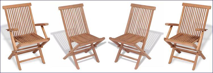Tekowe krzesła ogrodowe Soriano