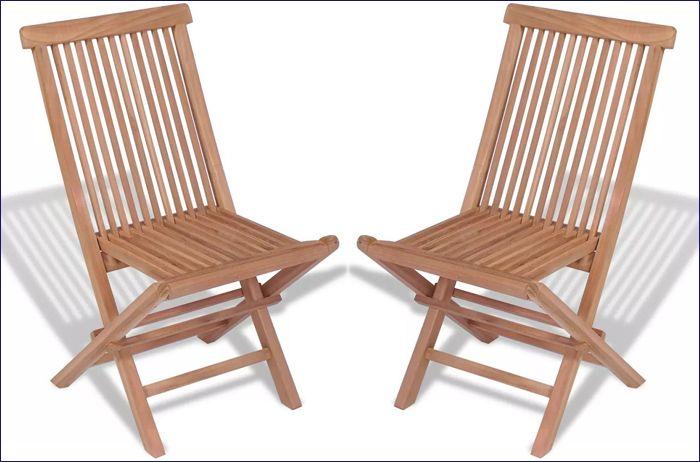 Składane drewniane krzesła na taras i balkon Soriano