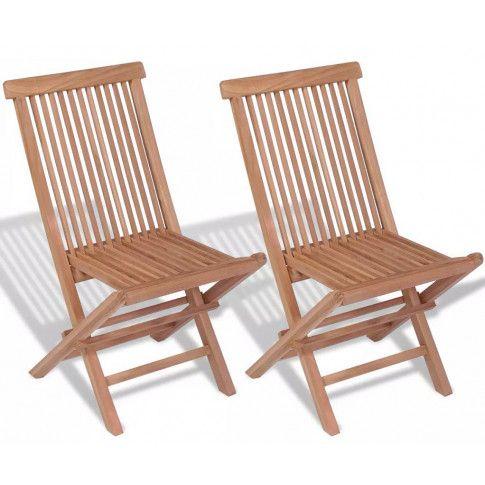 Zdjęcie produktu Składane krzesła ogrodowe tekowe Soriano - 2 szt.