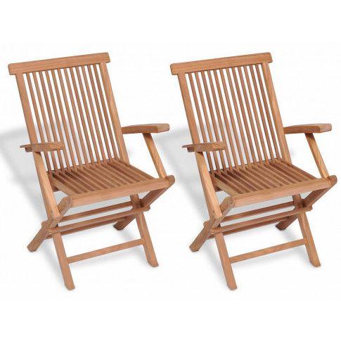 Zdjęcie produktu Drewniane krzesła ogrodowe Soriano 2X - 2 szt.