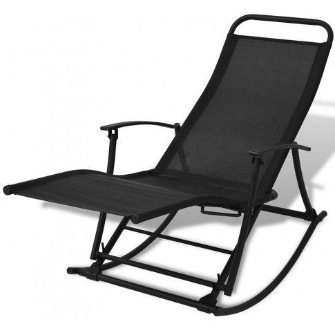 Zdjęcie produktu Metalowe bujane krzesło ogrodowe Benta - czarne.