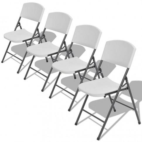 Zestaw składanych krzeseł ogrodowych Andel