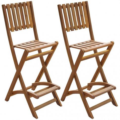 Zestaw drewnianych krzeseł ogrodowych Aliya
