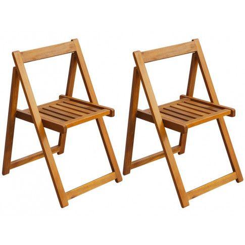 Zdjęcie produktu Akacjowe krzesła ogrodowe Hobart 2 szt.