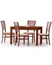 Rozkładany stół Destin 120-160 cm - ciemny orzech