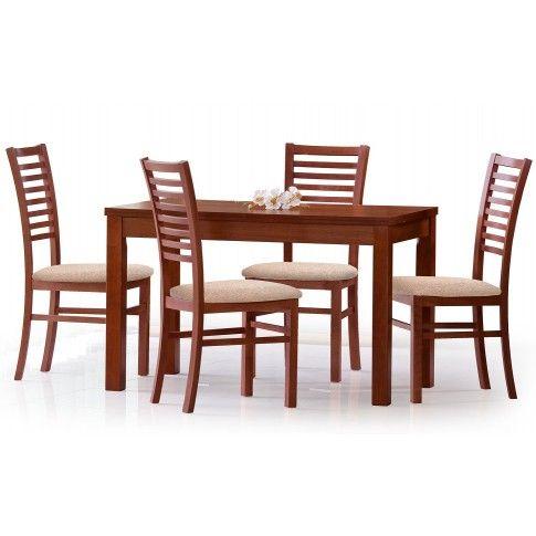 Zdjęcie produktu Rozkładany stół Destin 120-160 cm - ciemny orzech.
