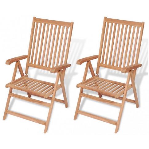 Zestaw drewnianych krzeseł ogrodowych Onder