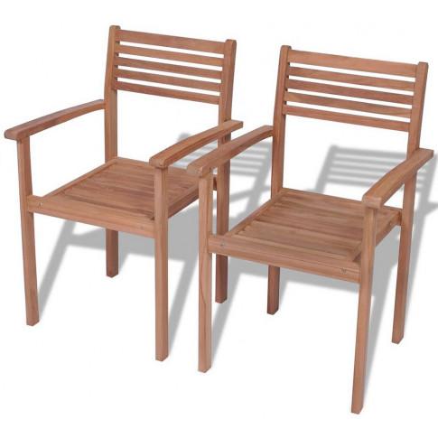 Zestaw drewnianych krzeseł ogrodowych Malion 2X