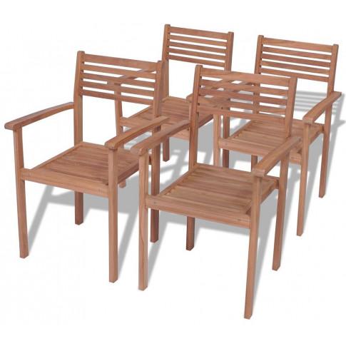 Zestaw drewnianych krzeseł ogrodowych Malion 3X