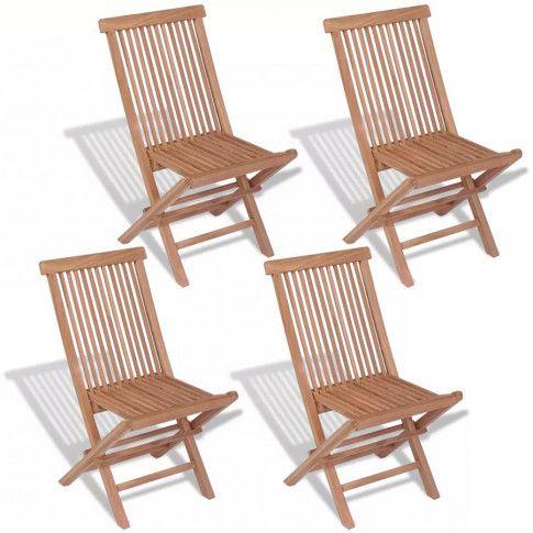 Zdjęcie produktu Tekowe krzesła ogrodowe Soriano - 4 szt.