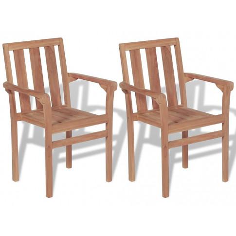 Zestaw drewnianych krzeseł ogrodowych Jayden