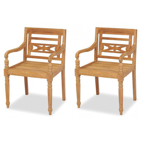 Zestaw drewnianych krzeseł ogrodowych Kselia