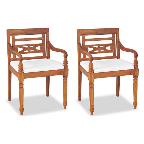Zestaw drewnianych krzeseł ogrodowych Kselia 2X